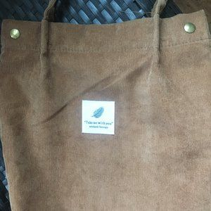 Brown Corduroy Shoulder bag